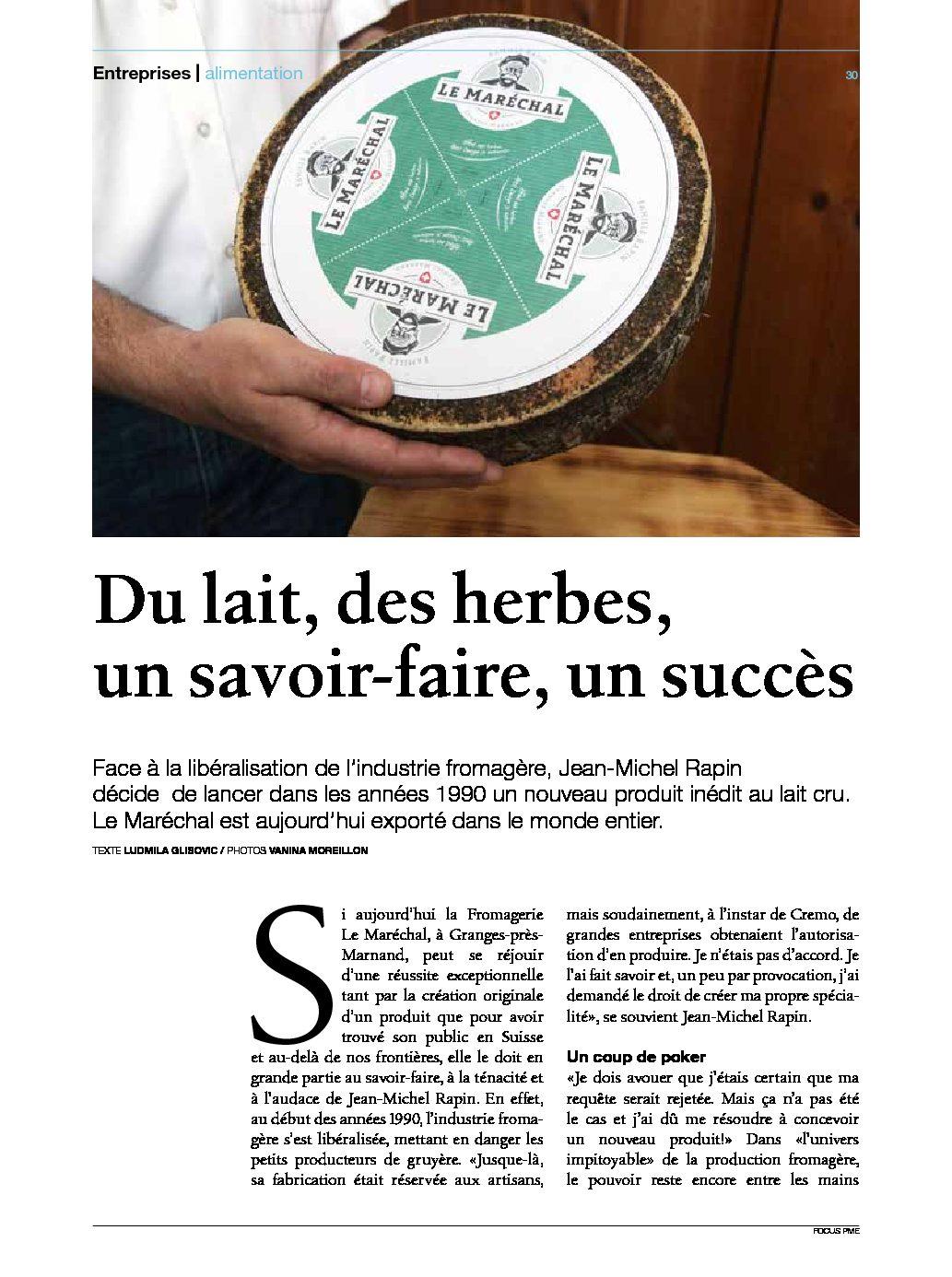 Fromage Suisse Au Lait Cru Le Marechal Produit Du Terroir
