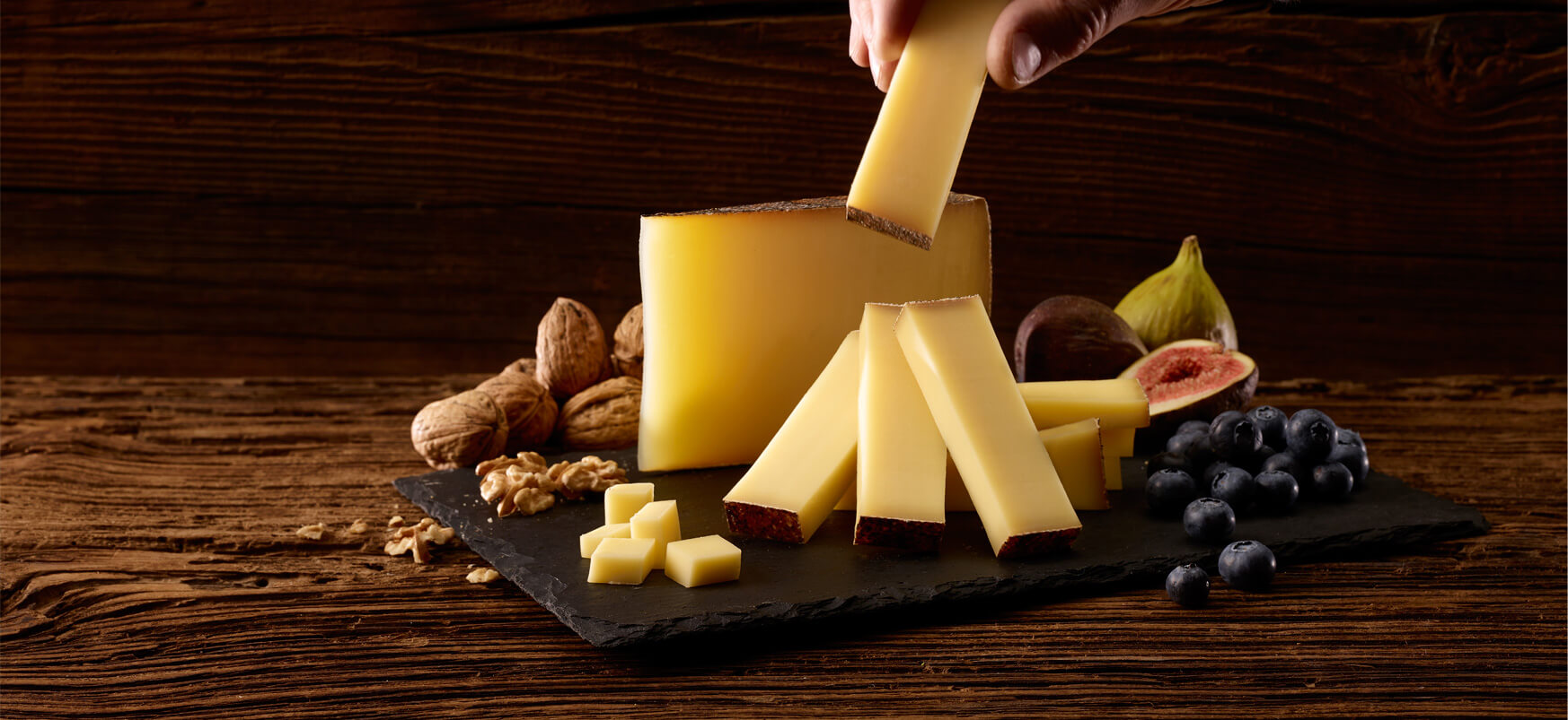 A delicious Swiss cheese<br /> made from raw milk.<br /> Carefully prepared by an artisan cheese-maker.<br /> Melts in the mouth and is naturally rich in Omega-3s.